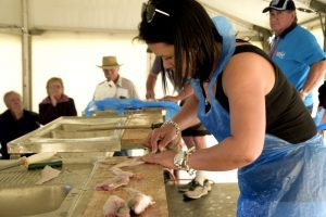 Oysterfest Ceduna Fish Filleting